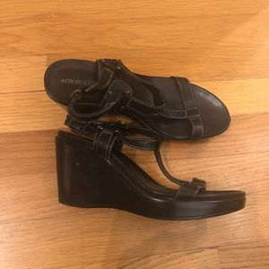 Aerosoles Wedge T-Strap Sandals